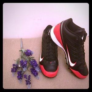 Men's Nike Landshark Cleats Black/Red sz 10